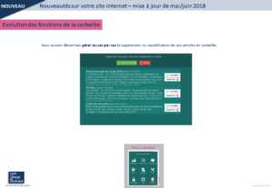 gestion corbeille site internet mairie